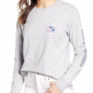 Vineyard Vines Gray Long sleeve Graduation Tee